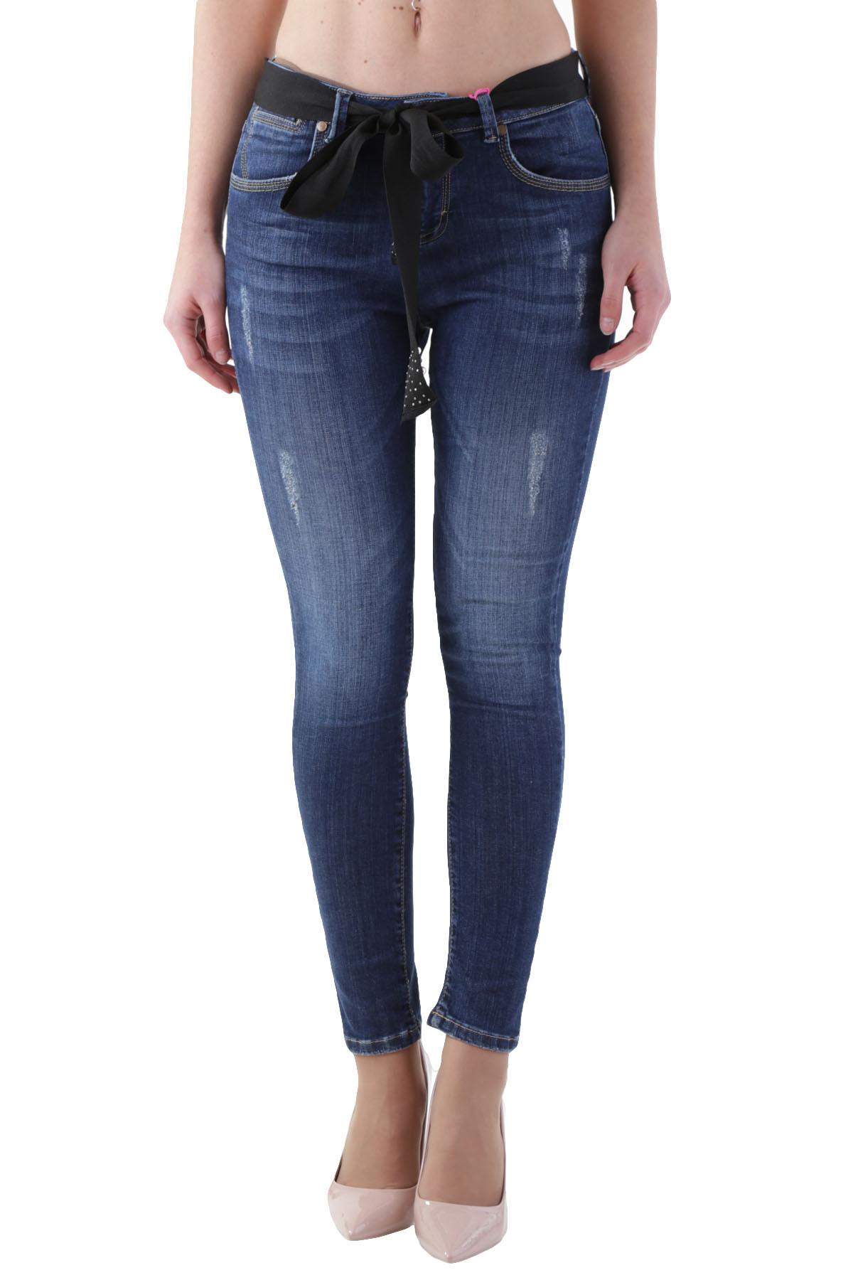 24eee6756aee GR 104480 Italy blu Cristina Gavioli Jeans Donna - Sped. in 24 48 ore  lavorative