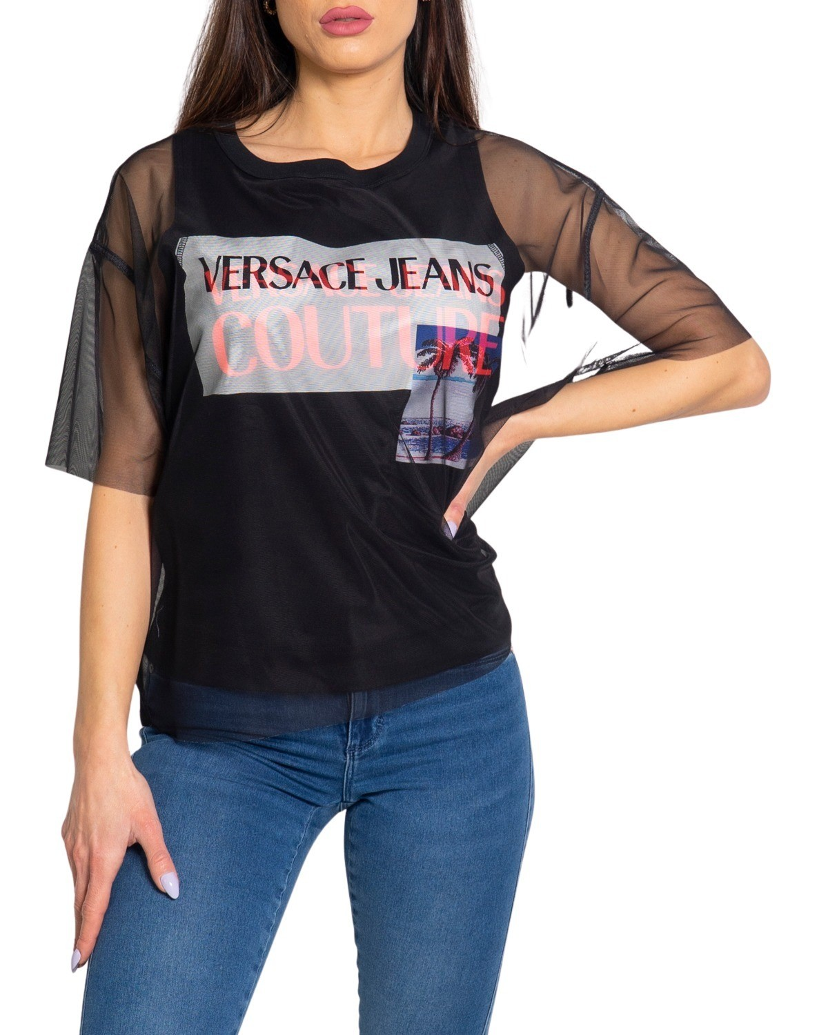 Marchio Versace Jeans Couture Genere Donna Tipologia T-shirt Stagione Prima…